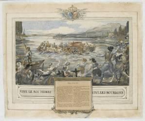 Accident au bac de Neuilly en 1603 (Anonyme) - Muzeo.com