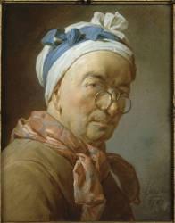 Autoportrait aux bésicles (Chardin Jean Baptiste Siméon) - Muzeo.com