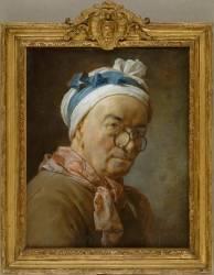 Autoportrait dit aux bésicles (Chardin Jean Baptiste Siméon) - Muzeo.com