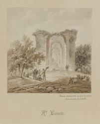 Denon dessinant les ruines de la maison de Catulle (Lecomte Hippolyte) - Muzeo.com