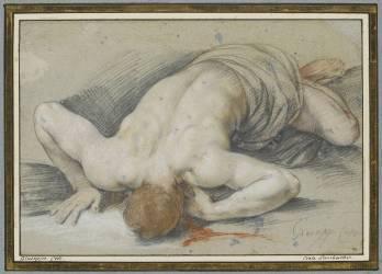 Figure d'homme mort, la face contre terre (Cavalier d'Arpin) - Muzeo.com