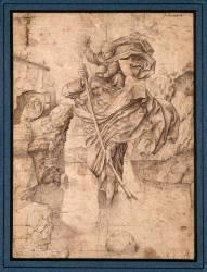 Saint Christophe passant l'Enfant-Jésus (Jan van Eyck) - Muzeo.com