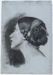 Tête de femme de profil (Colas Alphonse) - Muzeo.com