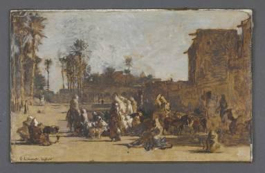 Vue de Laghouat (Guillaumet Gustave Achille) - Muzeo.com