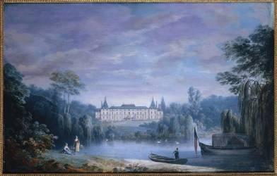 Vue du château de Malmaison côté parc. (Noël Alexandre Jean) - Muzeo.com