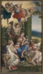 Allégorie des Vertus (Corrège le (dit), Allegri...) - Muzeo.com