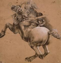 Cavalier, étude d'après la Bataille d'Anghiari (De Vinci Léonard) - Muzeo.com