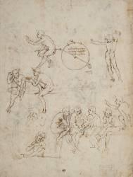 Etudes de figures, études pour la Cène, et projet d'hygromètre (Léonard de Vinci) - Muzeo.com