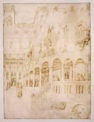 La flagellation (Bellini Jacopo) - Muzeo.com