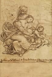 La Vierge, l'enfant Jésus et sainte Anne (Anonyme) - Muzeo.com