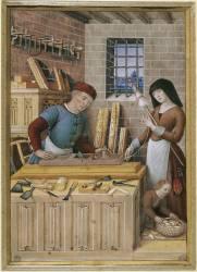 Les quatre états de la société : l'artisan ou le travail (Bourdichon Jean) - Muzeo.com