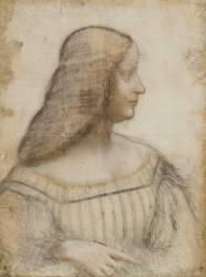 Portrait d'Isabelle d'Este (De Vinci Léonard) - Muzeo.com