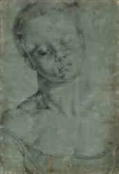 Portrait d'une jeune fille, en buste, vue de face (Albrecht Dürer) - Muzeo.com