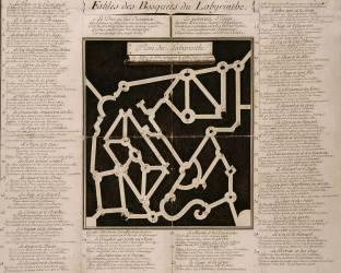 Plan du Bosquet du Labyrinthe dans les jardins de Versailles (Anonyme) - Muzeo.com