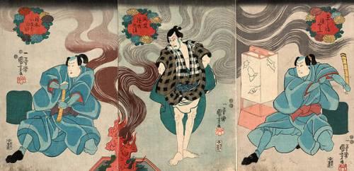 Acteurs dans les rôles de Tamashima Itto Kuniyoshi (Utagawa Kuniyoshi) - Muzeo.com