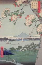 Branche de Suigin et et de Masaki, près de la rivière Sumida (Hiroshige) - Muzeo.com