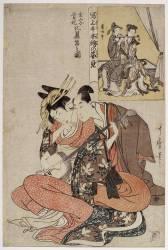Couple de musicien ; Xuanzong et Yang Guifei, série : miroir des peintures classiques (Kitagawa Utamaro) - Muzeo.com