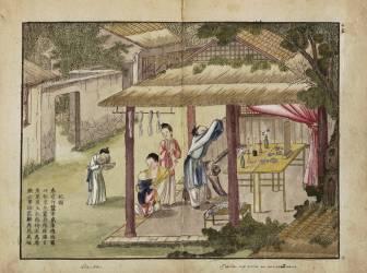 Gengzhi tu, le livre du labourage et du tissage (Bingzhen Jiao) - Muzeo.com