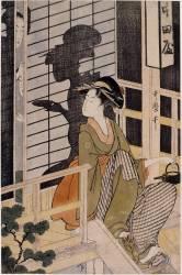 La maison de thé Nakadaya (Kitagawa Utamaro) - Muzeo.com