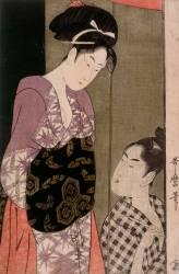 La moustiquaire (Kitagawa Utamaro) - Muzeo.com