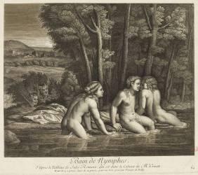 Le bain des nymphes (Poilly Nicolas de, le Jeune) - Muzeo.com
