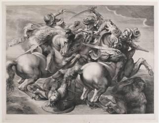 Les quatre cavaliers ou la bataille d'Anghiari (Edelinck Gérard) - Muzeo.com