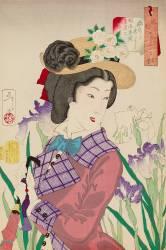 Les usages d'une femme mariée de l'ère Meiji : la flânerie Yoshitoshi Tsukioka (Yoshitoshi Tsukioka) - Muzeo.com