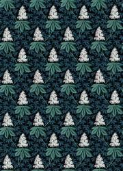Motif répétitif de feuilles de marronniers (Anonyme) - Muzeo.com