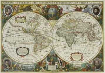 Planisphère (Hendrick Hondius le Jeune) - Muzeo.com