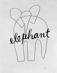 Alphabet pour adulte : Eléphant (Man Ray) - Muzeo.com