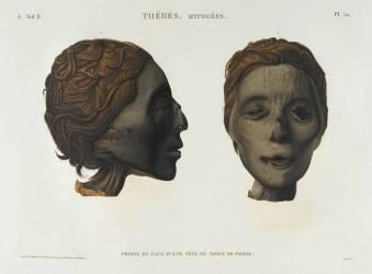 Description de l'Egypte : tête de momie (Anonyme) - Muzeo.com