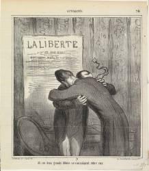 Et ces deux grands débris se consolaient entre eux (Daumier Honoré) - Muzeo.com