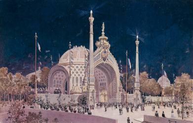 La porte monumentale de l'exposition universelle de Paris de 1900 (Anonyme) - Muzeo.com