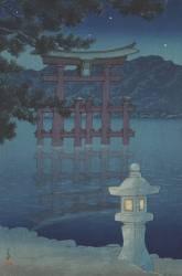 Nuit étoilée à Miyajima, 1928 (Hasui Kawase) - Muzeo.com