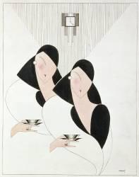 Two Ladies Taking Tea, c.1930 (Anonyme) - Muzeo.com