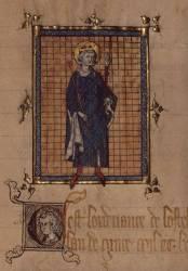 Registre des ordonnances de l'hôtel du roi : miniature représentant saint Louis (Anonyme) - Muzeo.com