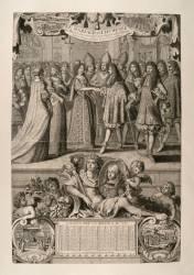 Almanach : Le mariage de Marie-Louise d'Orléans avec Charles II, roi d'Espagne (Anonyme) - Muzeo.com