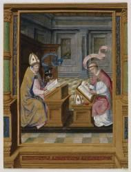 Deux Saints : saint Augustin et saint Cyrille, évêque de Jérusalem (Anonyme) - Muzeo.com