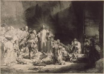La Pièce aux Cent Florins ou Jésus guérissant les malades; 1er état (Rembrandt) - Muzeo.com