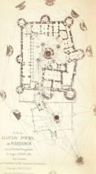 Plan du château impérial de Pierrefonds (Auguste Chevalier) - Muzeo.com
