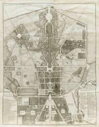 Planche 474 : plan général de la ville, du château et des jardins et parc de Versailles nouvellement (Blondel Jacques-François) - Muzeo.com
