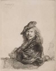 Rembrandt appuyé (Rembrandt Harmensz van Rijn) - Muzeo.com