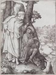 Suzanne et les vieillards (Lucas de Leyde (dit), van...) - Muzeo.com