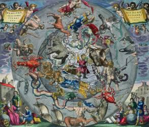 Carte des Constellations de l'hémisphère Nord (Cellarius Andreas) - Muzeo.com