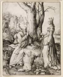 La Tentation de saint Antoine (Lucas de Leyde (dit), van...) - Muzeo.com