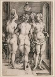Le groupe de quatre femmes nues (Dürer Albrecht) - Muzeo.com