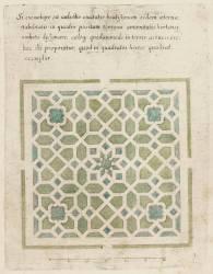 Modèle de parterre de jardin avec étoile (Anonyme) - Muzeo.com