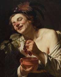 Jeune homme aux raisins (Gerrit Van Honthorst) - Muzeo.com