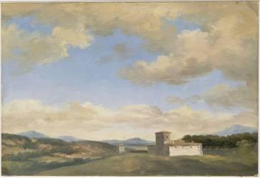 A la villa Borghèse : arbres et fabriques (Pierre Henri de Valenciennes) - Muzeo.com