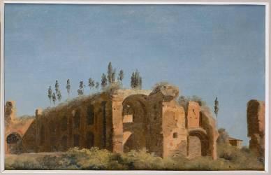 A la villa Farnèse : les ruines (Valenciennes Pierre Henri de) - Muzeo.com